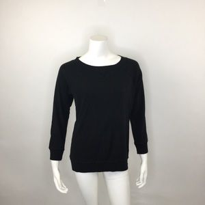 J. CREW BLACK LONG SLEEVE CITY T